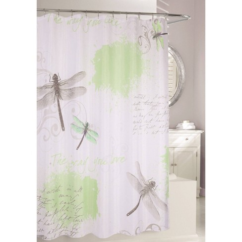 Dragonfly Shower Curtain Green Gray Moda At Home Target