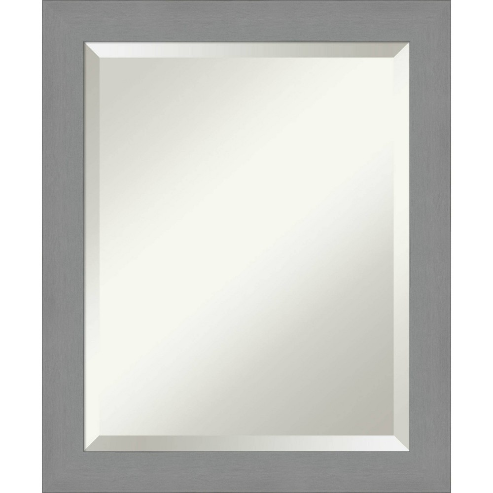 "Image of ""20"""" X 24"""" Framed Bathroom Vanity Wall Mirror Brushed Nickel - Amanti Art, Size: 20"""" X 24"""", Silver"""