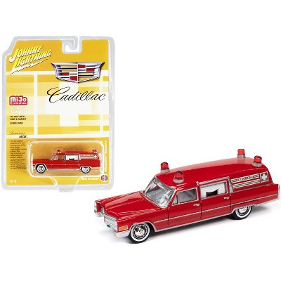"""1966 Cadillac Ambulance Red """"Special Edition"""" Limited Edition to 3600 pieces Worldwide 1/64 Diecast Model Car Johnny Lightning"""