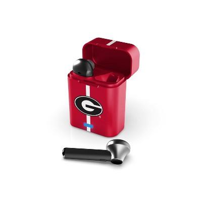 NCAA Georgia Bulldogs True Wireless Bluetooth Stem Earbuds