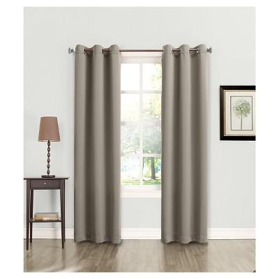 Lazlo Energy Efficient Grommet Curtain Panel Gray 40 x84 - Sun Zero