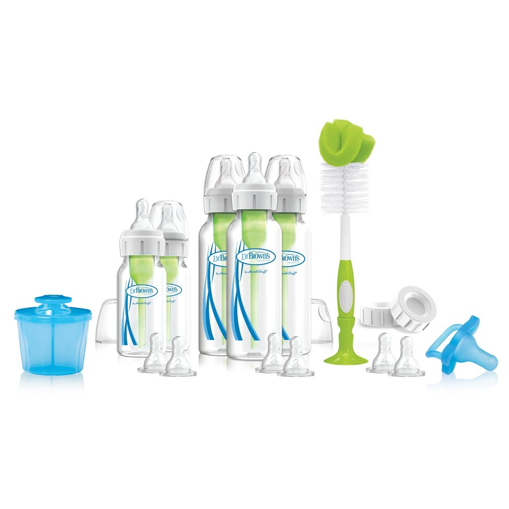 Image of Dr. Brown's Options+ Complete Baby Bottle Gift Set, Clear