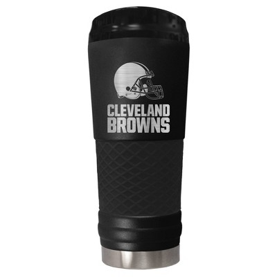 NFL Cleveland Browns The Stealth Draft 24oz Powder Coated Laser Etched Vacuum Insulated Tumbler