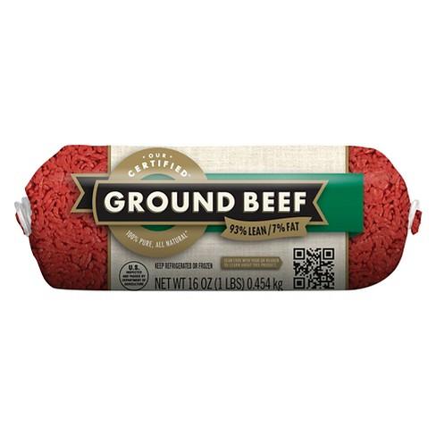 93/7 Ground Chub - 1lb - Market Pantry™ - image 1 of 1