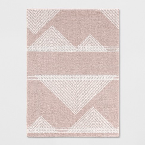"4'X5'6"" Geometric Tufted Accent Rug Blush - Room Essentials™ - image 1 of 4"