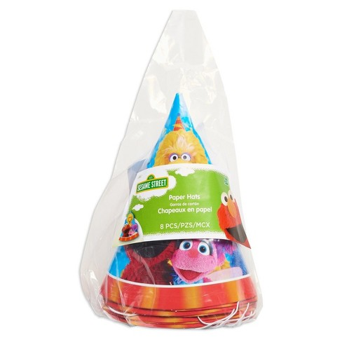 8ct Sesame Street Party Hats Target
