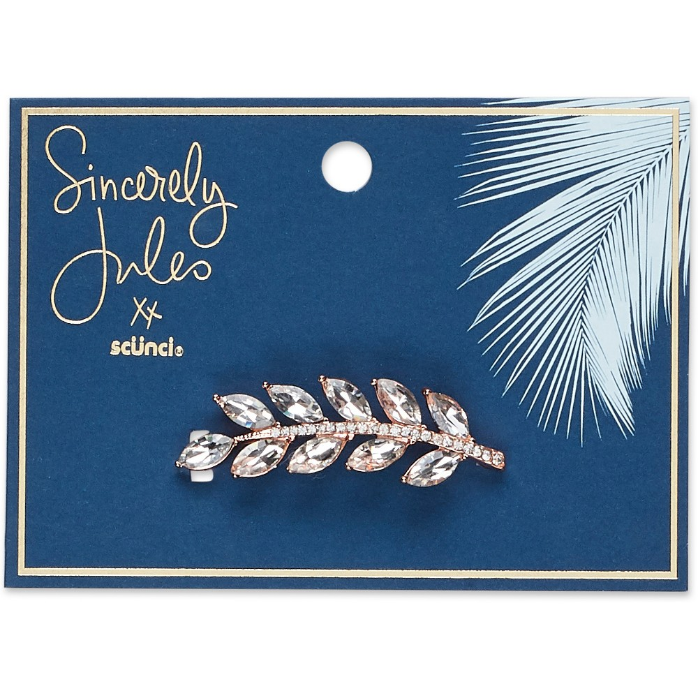Image of Sincerely Jules by Scünci Crystal Leaf Jeanwire Barrette - 6cm