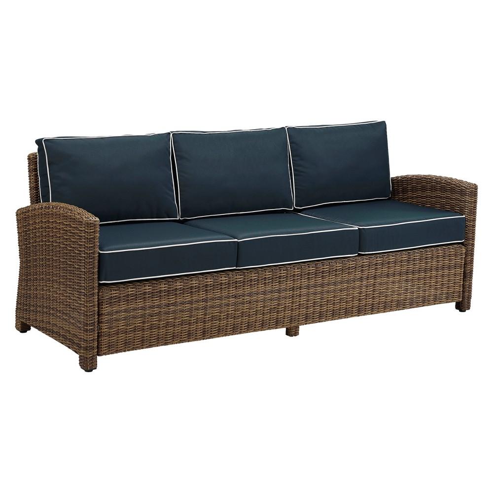 Bradenton Outdoor Wicker Sofa - Navy (Blue) - Crosley