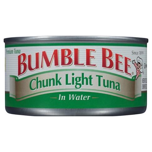 Kalorier i Bumble Bee Chunk Light Tuna in Water och