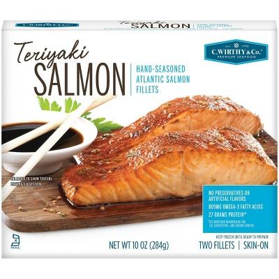 C. Wirthy & Co. Teriyaki Hand-Seasoned Atlantic Salmon Fillets - Frozen - 10oz