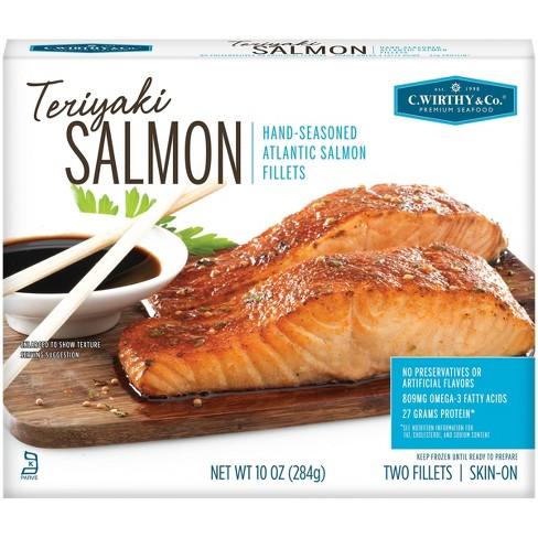 C. Wirthy & Co. Teriyaki Hand-Seasoned Atlantic Salmon Fillets - Frozen - 10oz - image 1 of 4