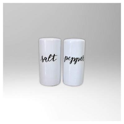 Stoneware 2pc Salt and Pepper Shakers - Threshold™