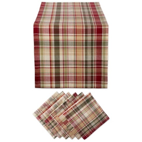 Give Thanks Plaid Table Set - Design Imports - image 1 of 4