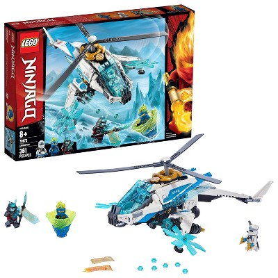LEGO Ninjago ShuriCopter Kids Toy Helicopter Building Set with Ninja Minifigures and Toys Weapons 70673