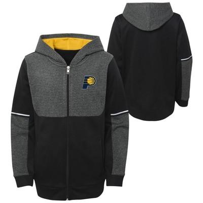 NBA Indiana Pacers Boys' Black Full Zip Hoodie
