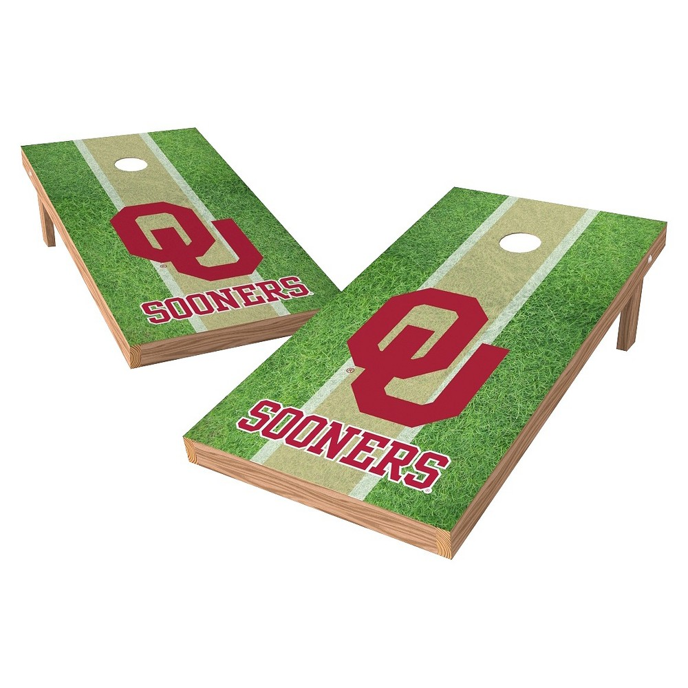 Oklahoma Sooners Wild Sports 2' x 4' Field Design Authentic Cornhole Set