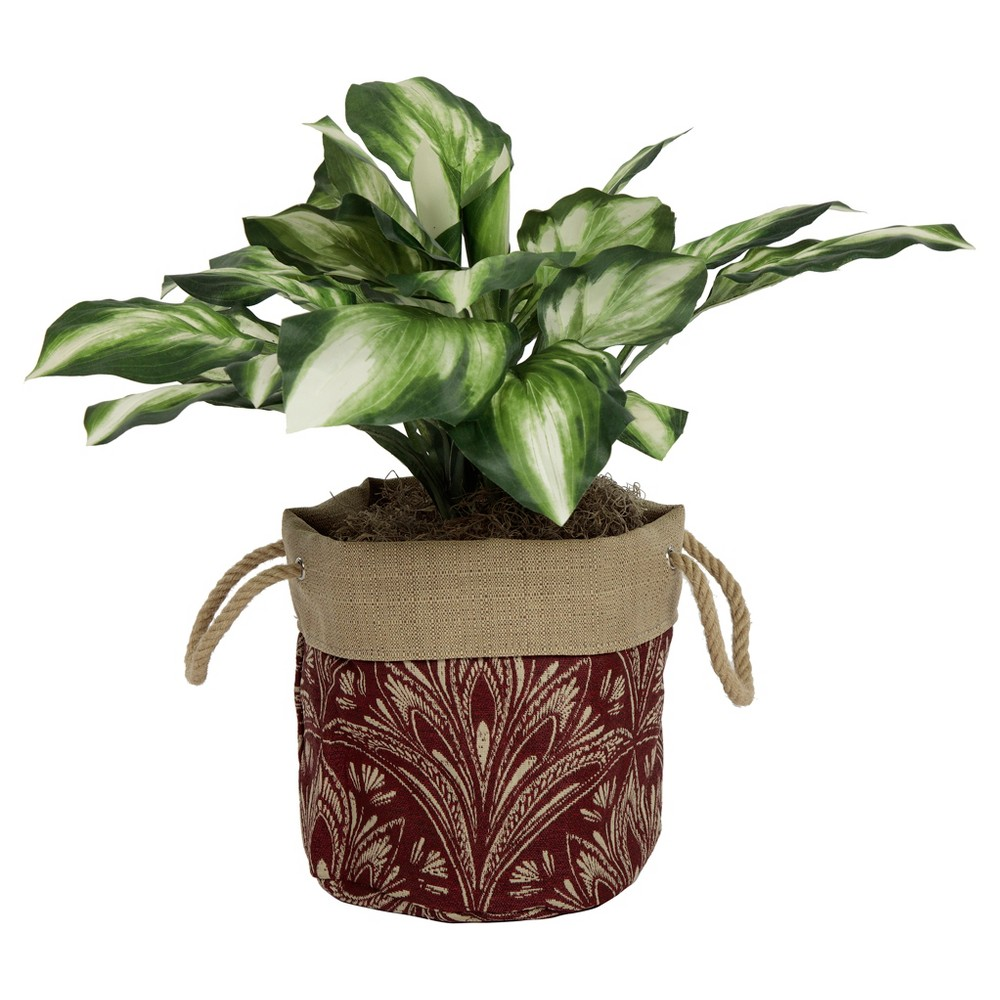 "Image of ""10"""" Aviana Fabric Floor Planter In Zanzibar Berry - Berry Red - Bombay Outdoors, Pink Red"""