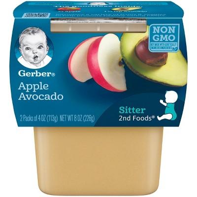 Gerber 2nd Foods Baby Food Apple Avocado - 4oz (2ct)