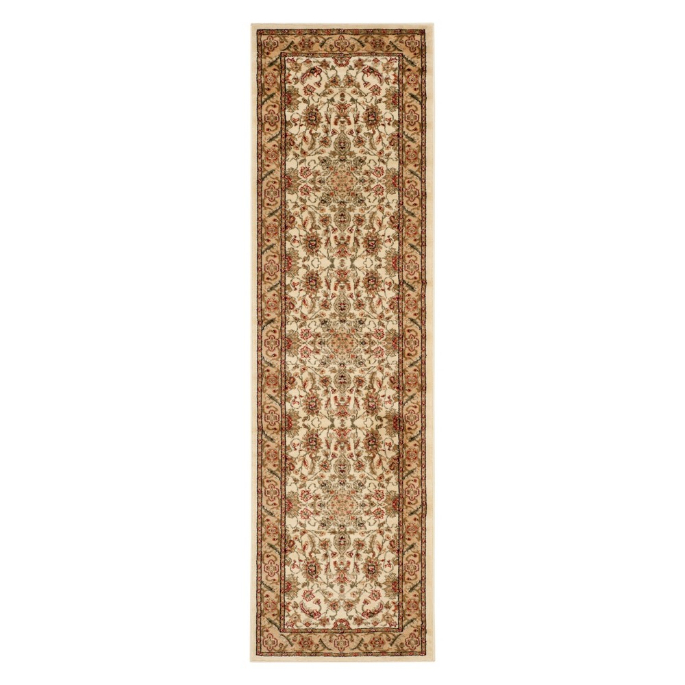 23X20 Floral Loomed Runner Ivory/Red - Safavieh Discounts