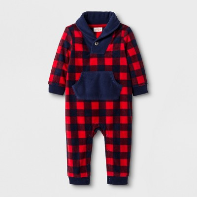 2198fc52d Baby Boys  Microfleece Shawl Collar Romper With...   Target