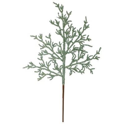 "Northlight 25"" Green Glittered Artificial Twig Christmas Spray"