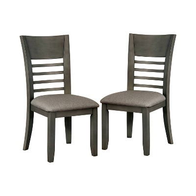 Set of 2 Horton Cushioned Wood Dining Side Chair Gray - HOMES: Inside + Out