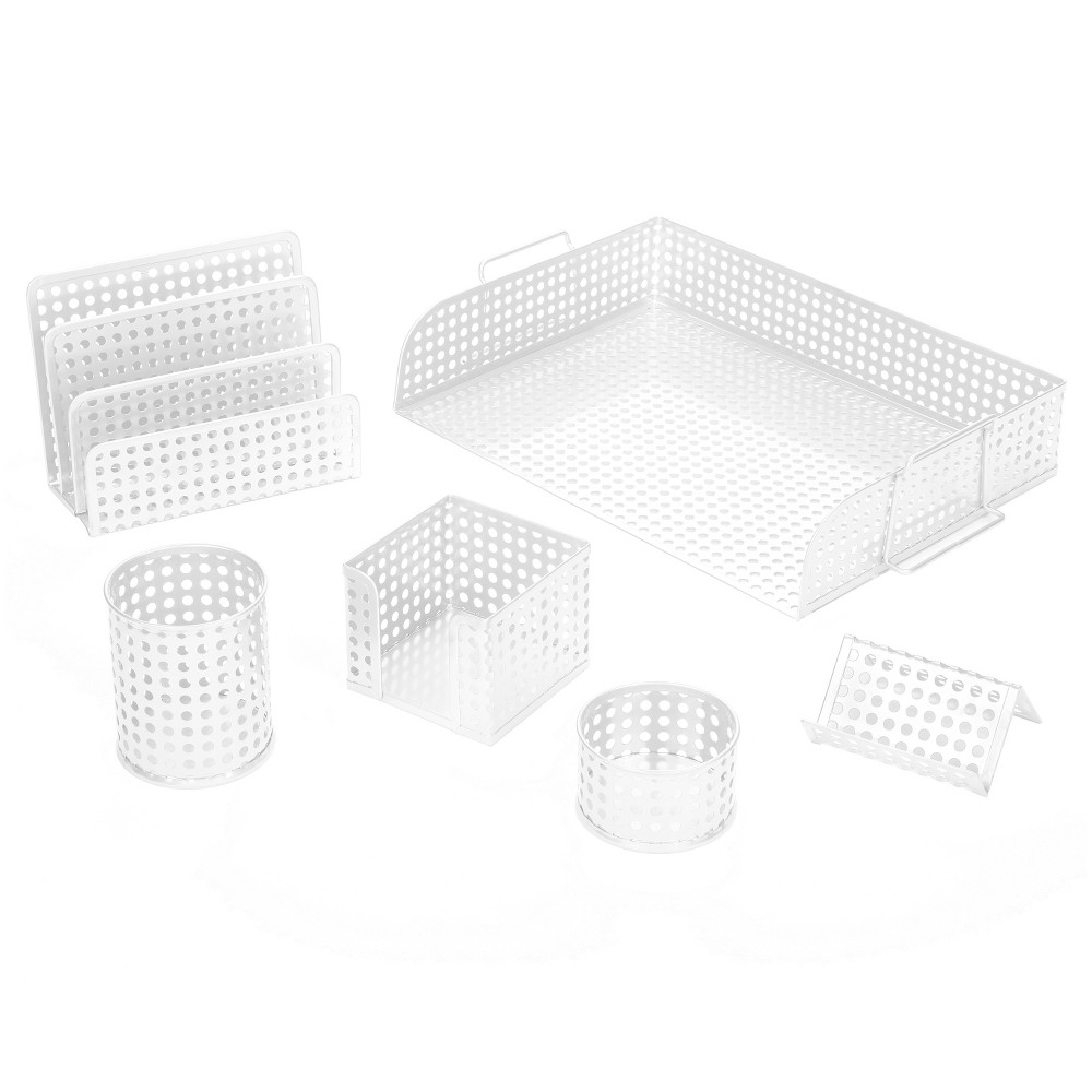 Image of Desktop Storage Unit Artistic, White