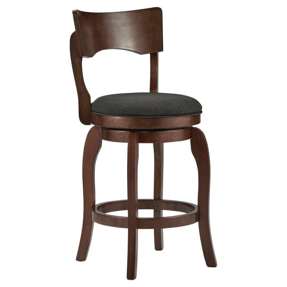 "Image of ""24"""" Calder Swivel Counter Stool Wood Charcoal Heather - Inspire Q"""