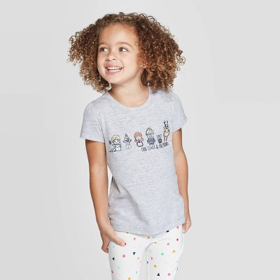 Toddler Girls' Disney Frozen Cool Times Cool Friends T-Shirt - Gray