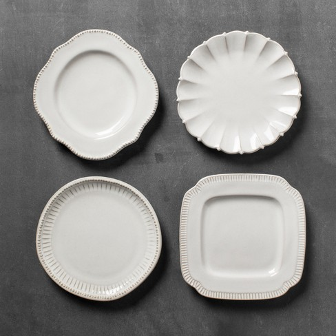 Classic Appetizer Plate Set of 4 - Cream - Hearth & Hand™ with Magnolia - image 1 of 2