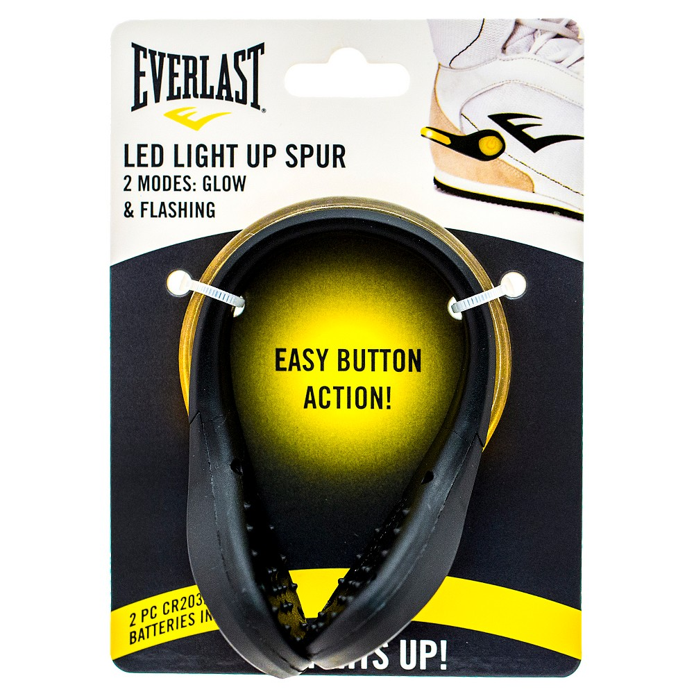 Everlast Footwear Decorations Led Light Up Spur - Yellow/Black One Size