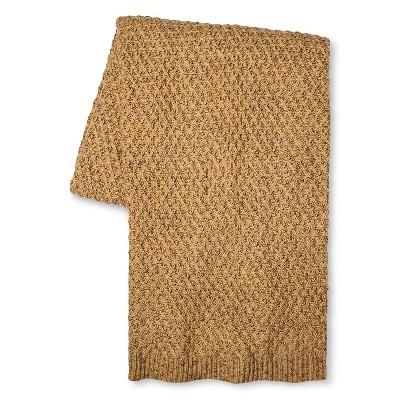 Throw Blanket Marled Sweater Knit Brown/Tan - Threshold™