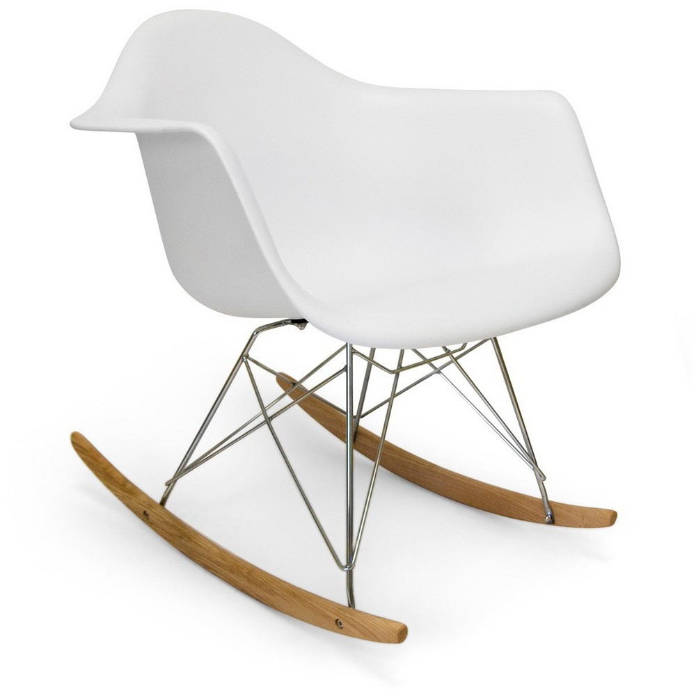 Dijon Rocker Dining Chair Plastic/White - Aeon