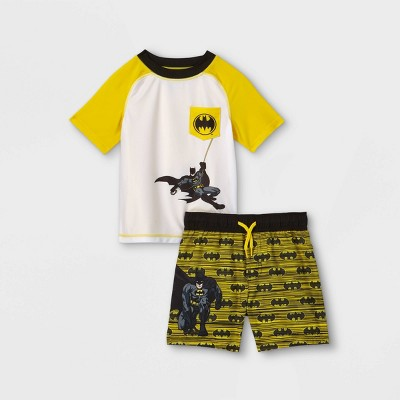 Toddler Boys' Batman Rash Guard Set - Yellow