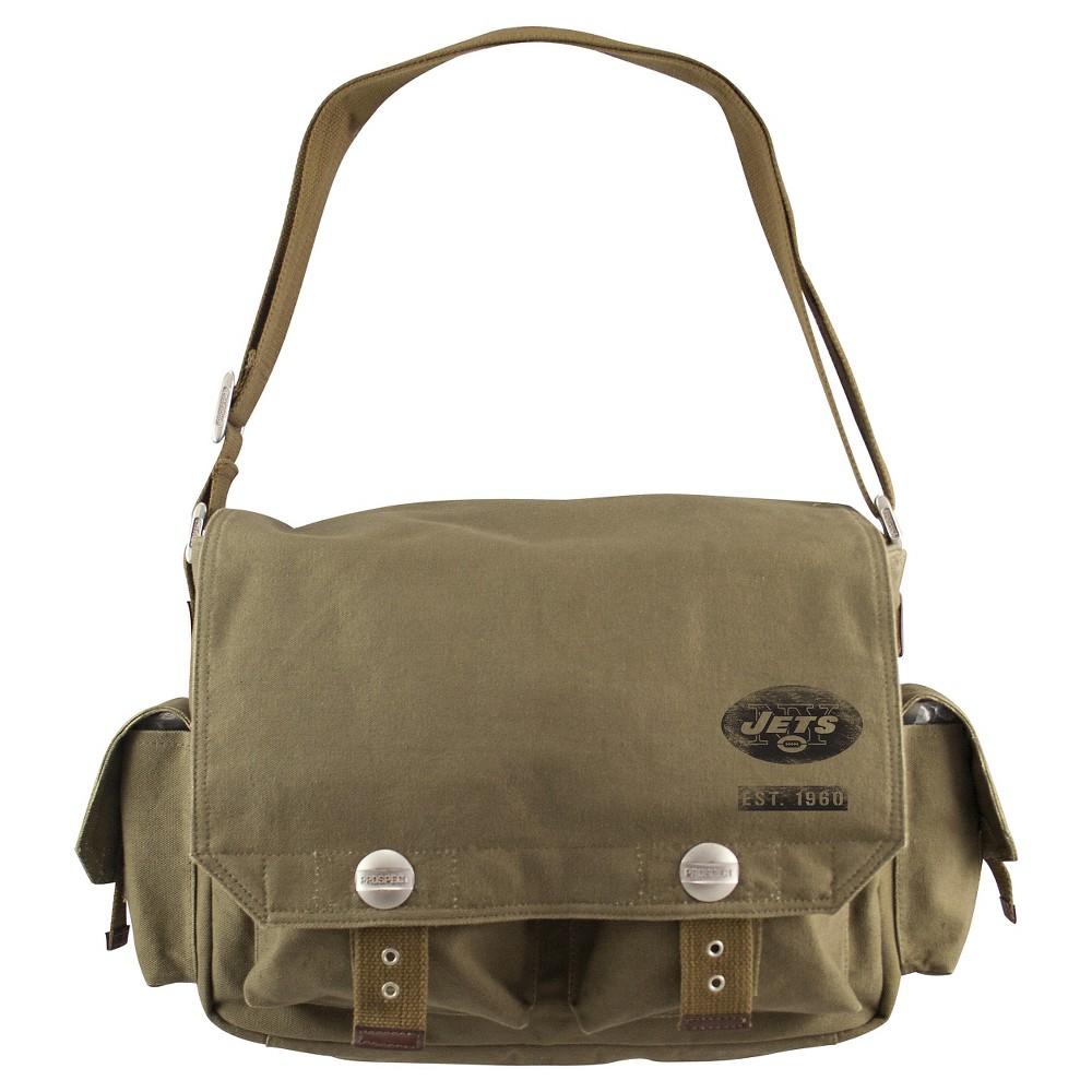 New York Jets Little Earth Prospect Messenger Bag, Olive Drab