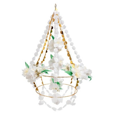 """Meri Meri White Blossom Chandelier – Party Decorations and Accessories – 19"""" x 28"""" x 19"""""""