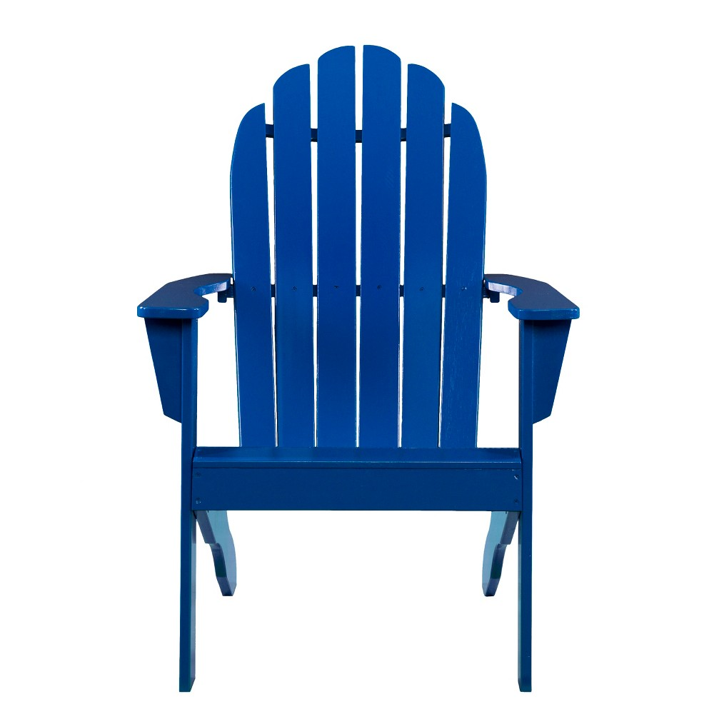 Atticus Outdoor Adirondack Chair Blue - Aiden Lane