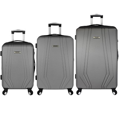 Elite Paris 3pc Hardside Spinner Luggage Set - Gray