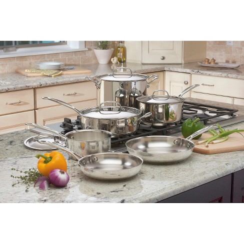 Cuisinart Chef's Classic 10pc Stainless Steel Cookware Set - 77-10 - image 1 of 4