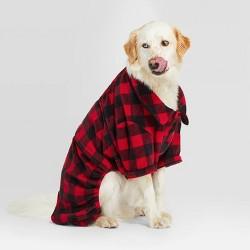 Holiday Buffalo Check Pet Pajamas - Wondershop™ Red