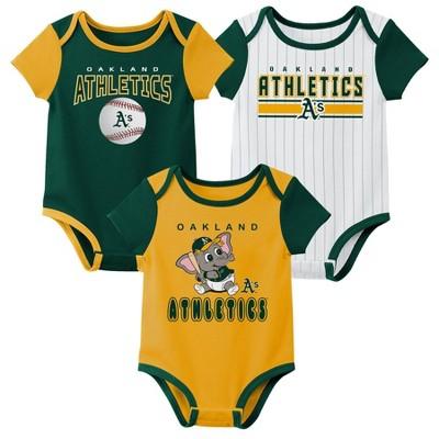 MLB Oakland Athletics Baby Boys' 3pk Bodysuit Set