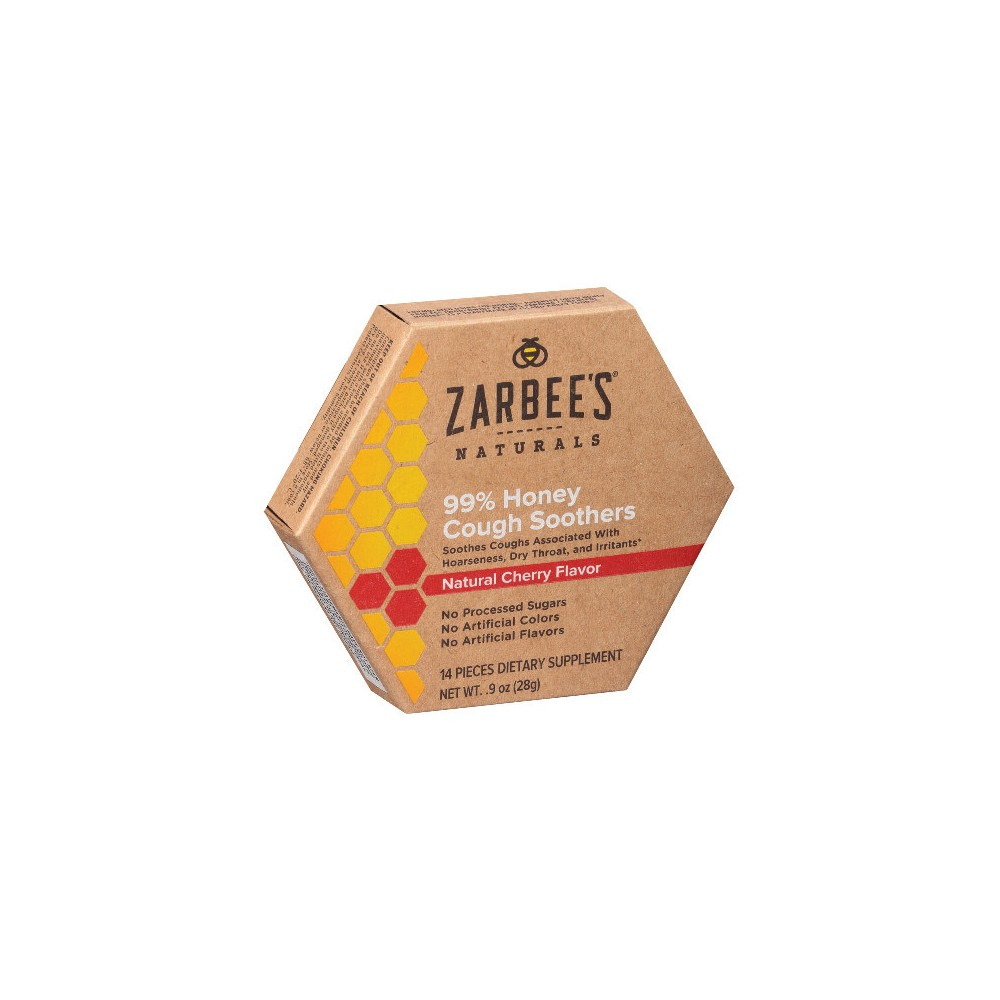 Zarbee's Naturals 99% Honey Cough Soother Lozenges - Cherry - 14ct