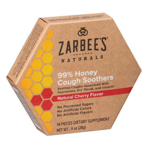 Zarbee's Naturals 99% Honey Cough Soother Lozenges - Cherry - 14ct - image 1 of 2