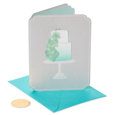Elegant Orchid Wedding Cake Greeting Card - PAPYRUS