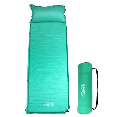 Osage River Self Inflating Sleeping Pad for Camping and Backpacking, Lightweight Memory Foam with Pillow