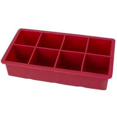 Home Basics Jumbo Silicone Ice Cube Tray, Red