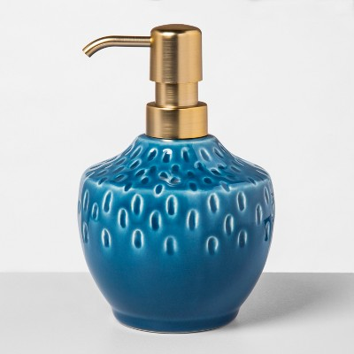 Decal Pattern Ceramic Soap/Lotion Dispenser Teal - Opalhouse™