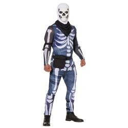 Adult Fortnite Skull Trooper Halloween Costume