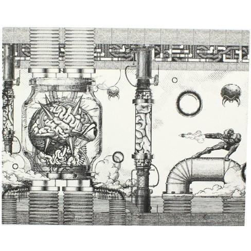 Nerd Block Nintendo Metroid Mother Brain 8x10 Art Print by Nemesis (Gamer Block Exclusive) - image 1 of 1