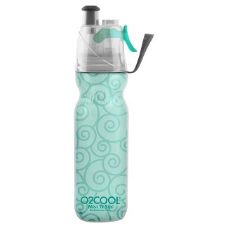 O2Cool® Mist N Sip® ArcticSqueeze® 20oz Double-Walled Water Bottle - Light Green